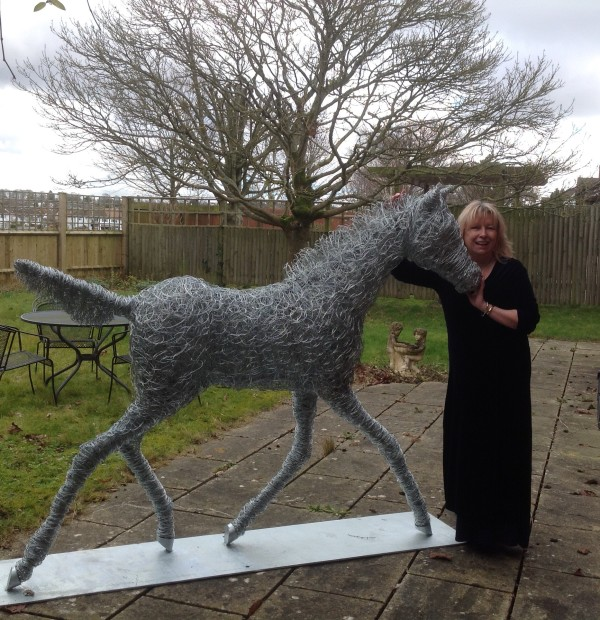 Jill and foal sculpture
